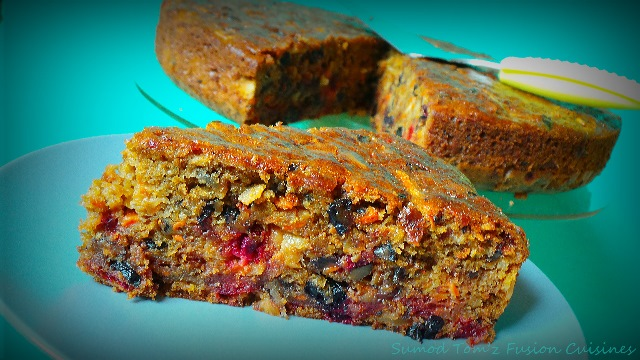 Carrots and Beetroots Plum Cake